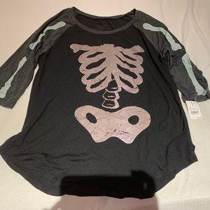 Halloween Skeleton Shirt - Size XL